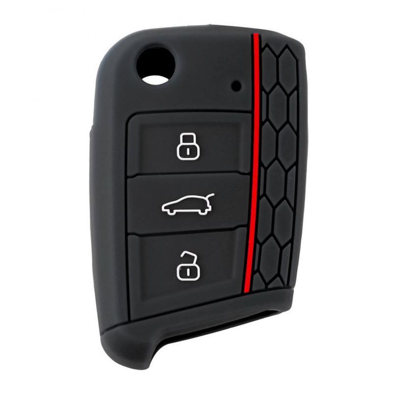 Silikon Schlüssel Fall Abdeckung Für VW Polo Golf 7 Tiguan Für Skoda Octavia Kodiaq Karoq Für SITZ Ateca Leon Ibiza auto Zubehör