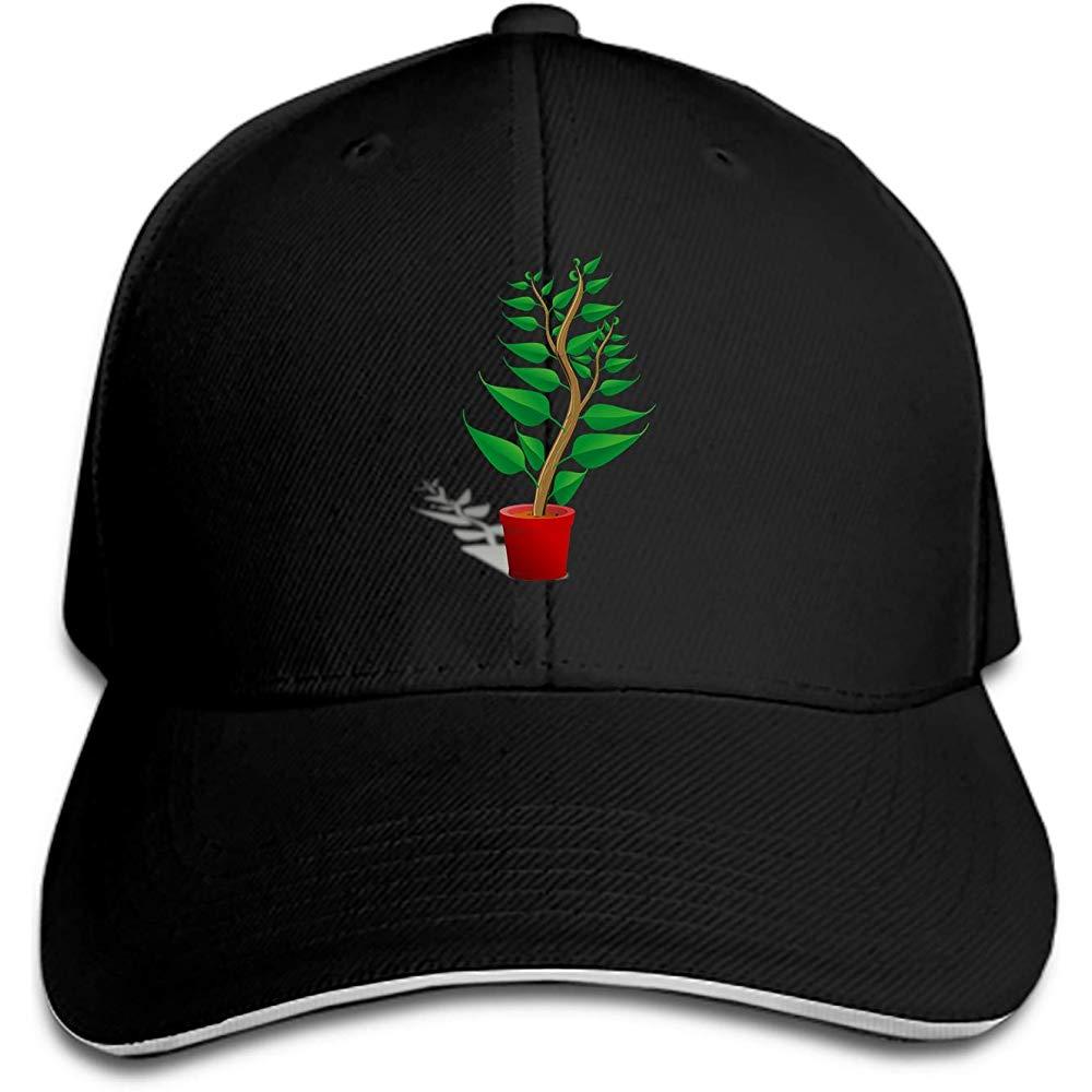 Gorra de béisbol tipo sándwich con diseño de rosas y flores y hojas, gorra ajustable Unisex
