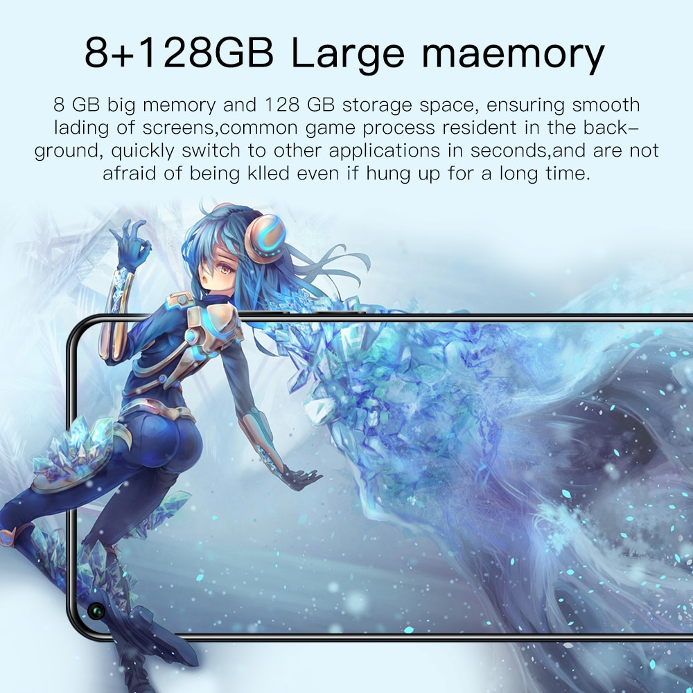 Mobile phone S21 Ultra 7.2 Inch Smartphone 10 Core 5800mAh 8+128GB 24+48MP Full Screen Face ID 4G 5G Android Cellphone enlarge