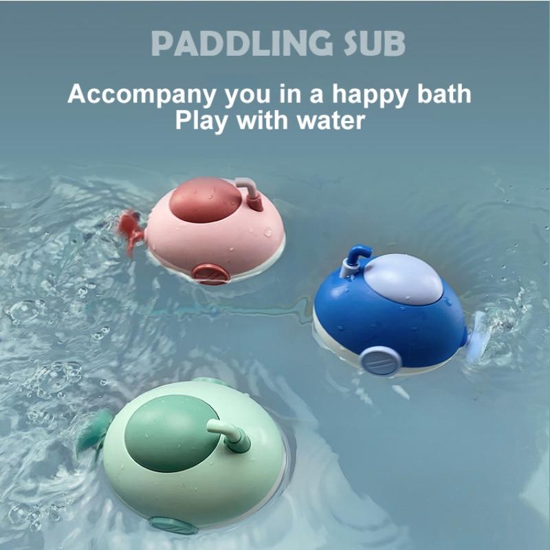 Новая детская подводная лодка для купания и воды, подводная лодка с заводной цепью, игрушки, милая маленькая подводная лодка, игрушки для ку...