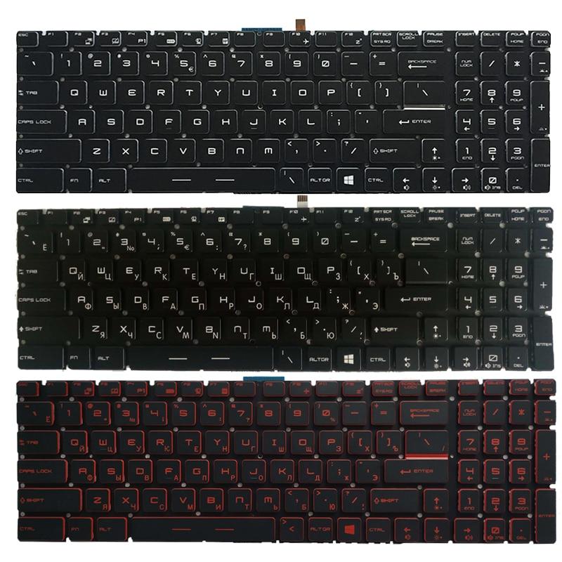 لوحة مفاتيح الكمبيوتر المحمول الروسية الجديدة للوحة المفاتيح MSI PE60 PE70 PX60 WS60 WS72 WT72 RU
