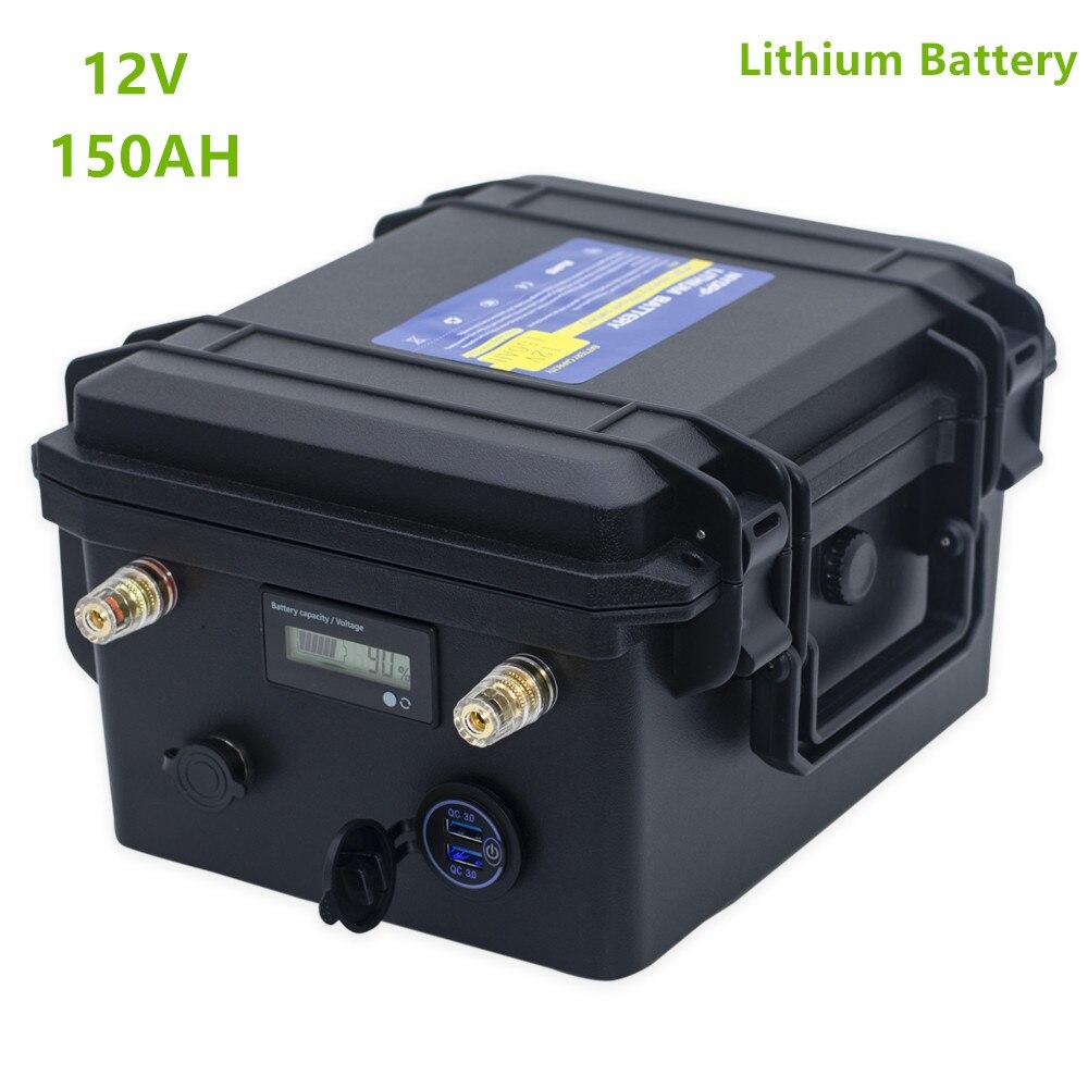 12v 150ah литиевая батарея 12V литий-ионная батарея 150AH с USB QC3.0 для инвертора, лодочного двигателя, гольф-кары, солнечной системы