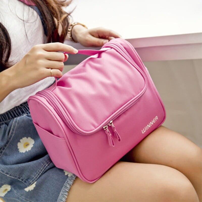 Hangable Large Capacity Waterproof Toiletries Storage Bag Cosmetics Bags Travel Beauty Bag Organize Handbag Pouch Necessaries