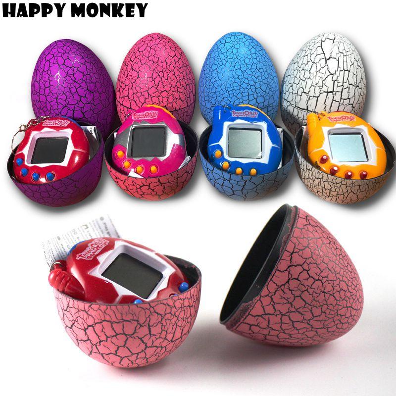 Free Dropshipping Multi-colors Dinosaur egg Virtual Cyber Digital Pet Game Toy Tamagotchis Digital E