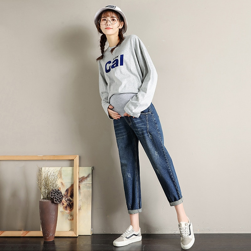 Maternity Jeans Pregnancy Pants Clothes for Pregnant Women Maternity Pants Abdomen Extension Pregnant Mommy Maternity Clothing