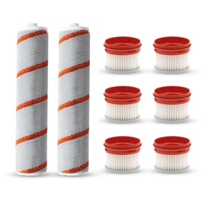 8PCS Roller Brushes Filter Replacements for Xiaomi Dreame V9 Cordless Handheld Vacuum Cleaner