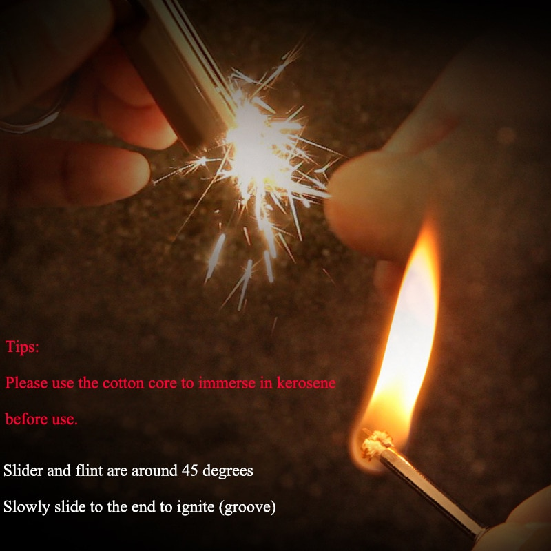 20pcs Jobon Retro Eternal match Lighter Survival Tool Kerosene Oil Flame Lighter Million Matches Flint Fire Starter enlarge