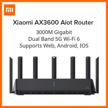 Xiaomi Mi AIoT Router AX3600 Global Version Six-Core Chip Dual-Frequency WiFi 3-Gigabit Wireless Rate WPA3 Network Encryption