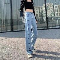 high waist wide leg woman baggy jeans denim clothing light blue streetwear vintage quality 2021 fashion harajuku straight pants