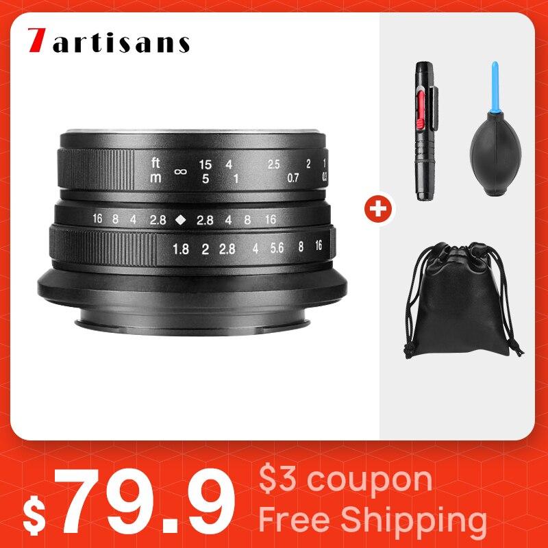 7 artesanos 25mm f1.8 lente principal para lente canon E montaje Canon EOS-M Mout Micro 4/3 cámaras sony a6000 A7 A7II A7R