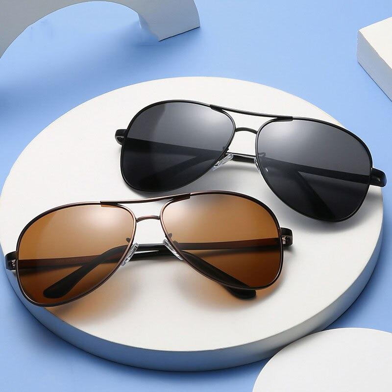 Новинка мужские поляризованные солнцезащитные очки Металлические солнцезащитные очки авиаторы Ретро жаба зеркальные очки для вождения Ме...