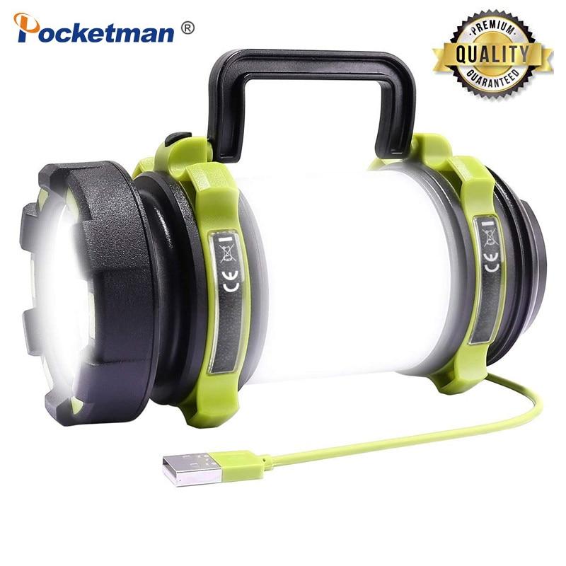 مصباح يدوي LED طويل العمر ، 8000 واط ، 100 لومن ، USB قابل لإعادة الشحن ، مصباح تخييم ، مقاوم للماء ، بحث ، صيد الأسماك