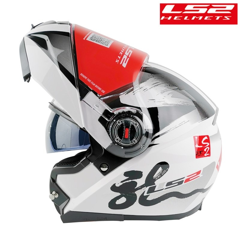 LS2 FF370 Casco motocicleta Modular abatible hacia arriba hombre mujer con doble Visor Capacete ls2 Casco Moto de la CEPE cascos para moto