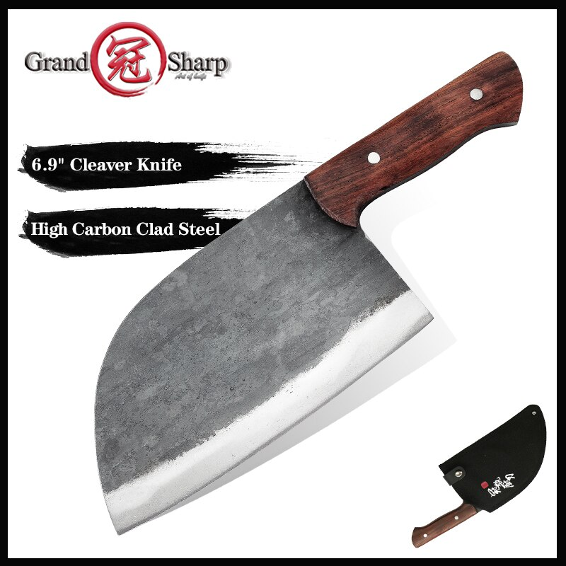 غراندشارب اليدوية الصينية الساطور سكين الطاهي المنغنيز الصلب صديقة للبيئة سكاكين المطبخ تقطيع تقطيع أدوات الطبخ المنزلية