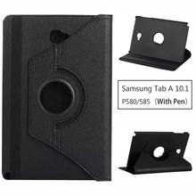360 graden rotatie PU Leather cover case Voor Samsung GALAXY Tab EEN 10.1 P580 P585 SM-P580 SM-P585 Tablet Shell Protector