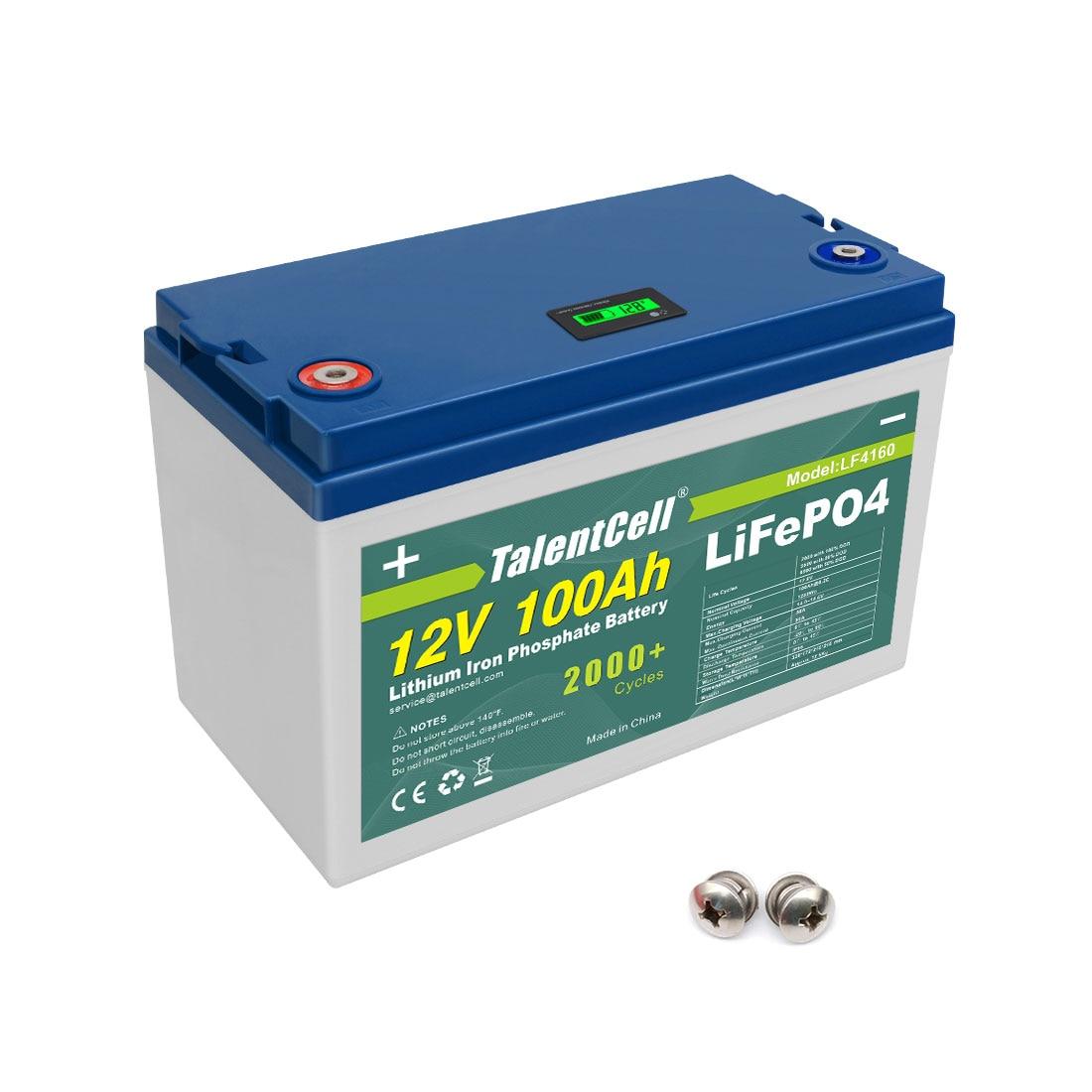 RTS LiFePO4 بطارية 32700 قابلة للشحن 12 فولت 100 أمبير دورة عميقة ليثيوم الحديد الفوسفات