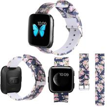 18/20/22mm bracelet de montre pour Huawei/fossile Q/LG/Samsung bracelets de montre intelligente avec boucle en acier imprimé bracelet de Sport pour Garmin