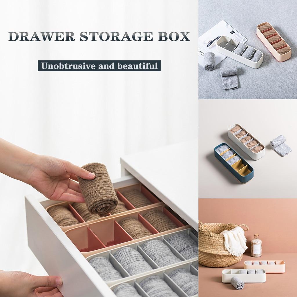 Boîte de rangement plastique pour sous-vêtements   Boîte de rangement séparée pour sous-vêtements chaussettes culottes, boîte de Classification pratique durable personnalité pour la maison