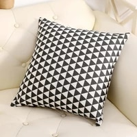 4545 nordic linen pillowcase geometric pattern decorative cushion cover throw pillow sofa bedroom office sofa pillowcover 40759