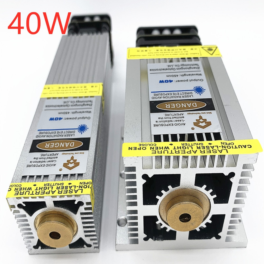 40W laser head, blue laser module, ultra-fast engraving of stainless steel and oxidized metal, high
