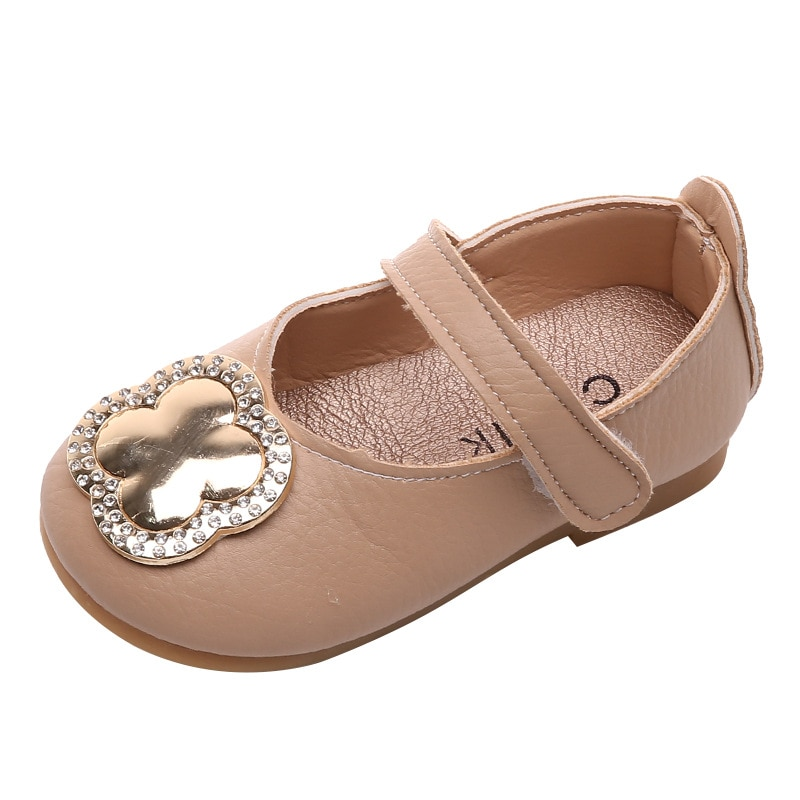 Children's Shoes Girls Princess Shoes Spring New Fashion Children's Small Leather Shoes Spring Girls Peas Single Crystal Shoes