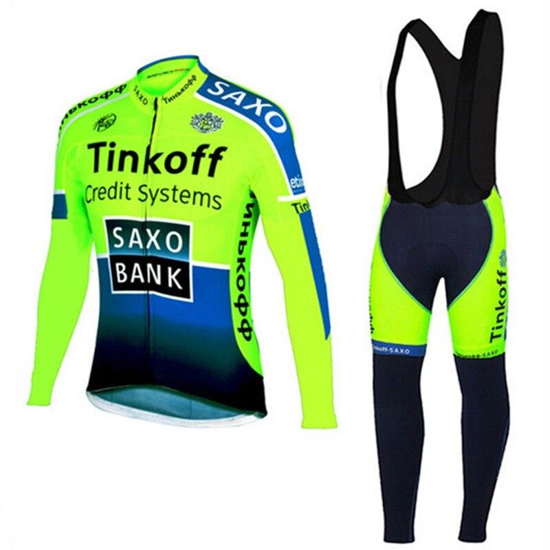 Tinkoff-Ropa de Ciclismo del Equipo saxo bank para hombre, camisetas de manga...