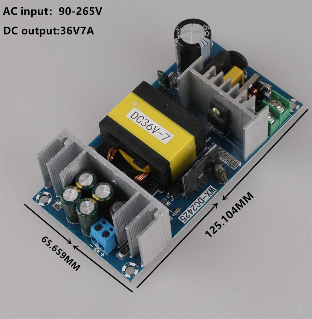 Новый 36V5A 6A 7A модуль питания AC-DC модуль импульсного источника питания плата переменного тока 100В-240В к DC 36В импульсный источник питания