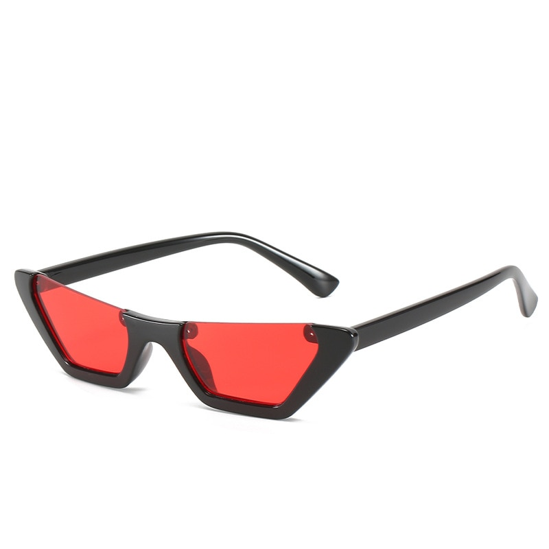 Óculos de sol vermelho feminino meia armação óculos de sol lentes coloridas personalizado óculos incomuns novas tendências 2021 vogue