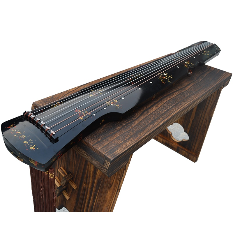 Chinese Guqin Fuxi /ZhongNi HunDun Style Lyre 7 Strings Ancient Zither Chinese Musical Instruments Free Send Study Book enlarge