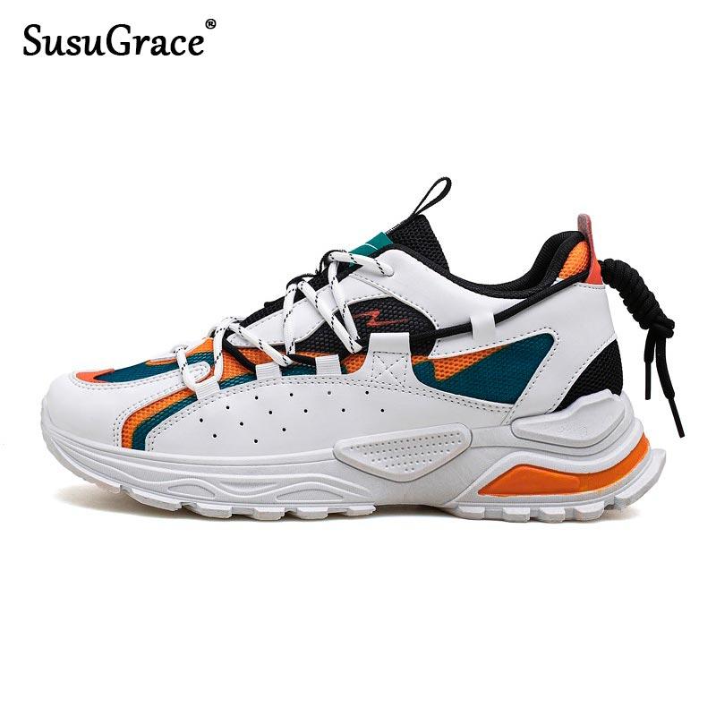 SusuGrace-Zapatillas deportivas transpirables para hombre, calzado deportivo para correr, a la moda,...