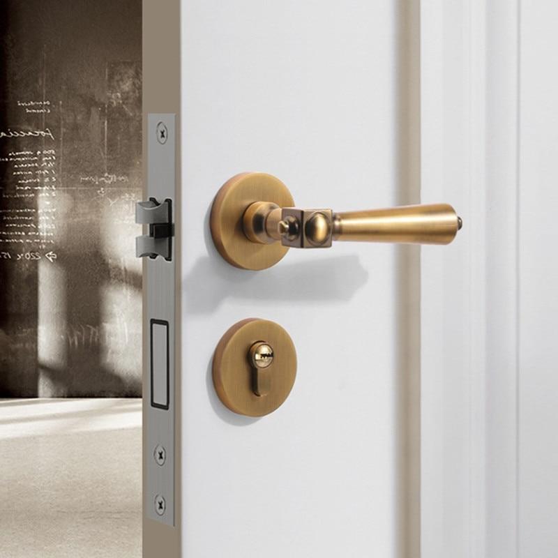الحديث كتم غرفة نوم سبليت قفل باب الموضة الداخلية مقبض الباب قفل سبائك الزنك مكافحة سرقة قفل البوابة الأجهزة والأثاث