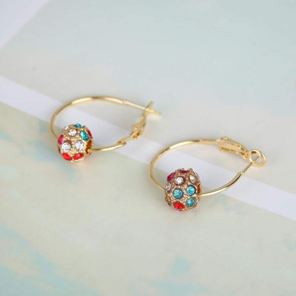 Naušnice modni nakit naušnice od kristalne kuglice dame za - Modni nakit - Foto 4