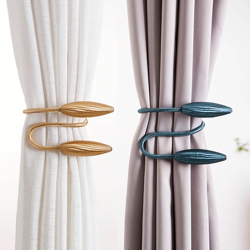 2 piezas de correas de cortina greativas europeo cortina Tiebacks corbata espalda holgada hebilla Clips accesorios de barras de cortina Accessoires A12