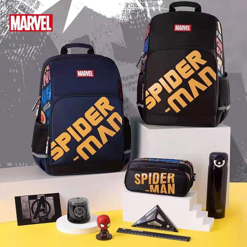 Disney 2021 New Marvel School Bags for Boys Primary Student Avengers Backpack Large Capacity Shoulder Kids Gifts Mochilars