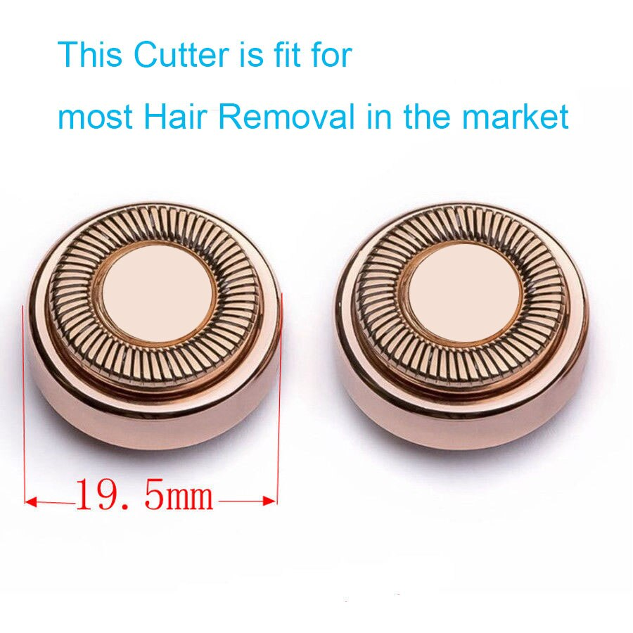 1/2/4pcs Replacement Heads For Hair Remover Painless Blades Cleaning Count For Women Electric Face Bikini Hair Shaver Eplicator