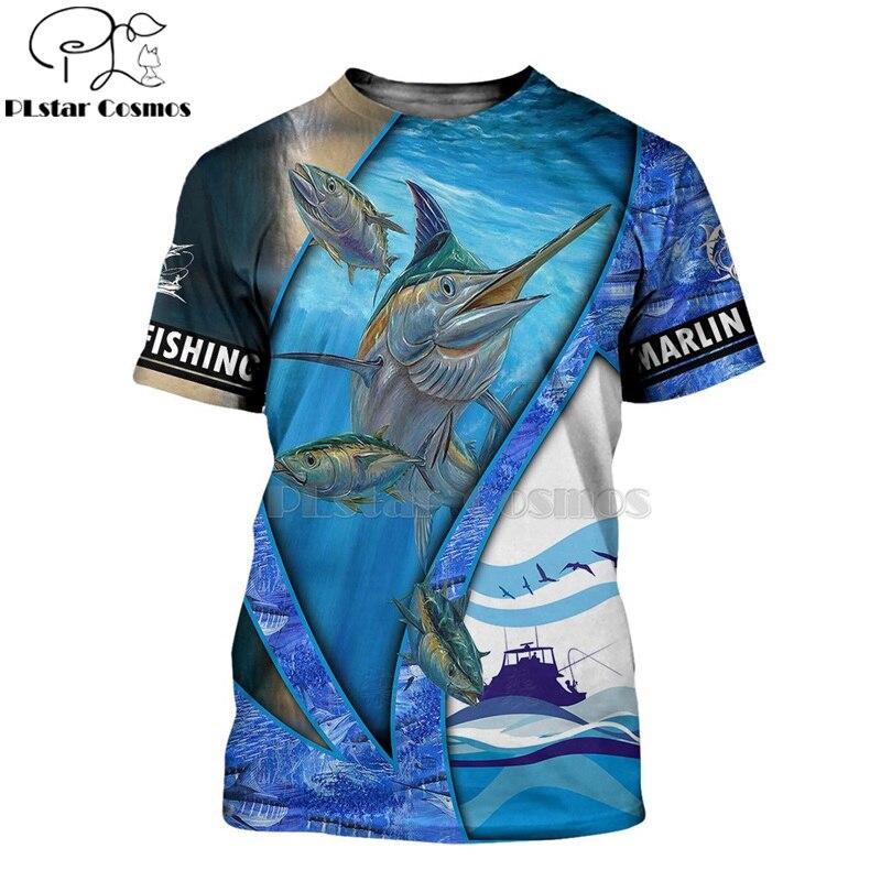 2020 New Fashion Men hoodies 3D Print t shirt New Fisherman fisher Animal Fishing Art tees shorts sleeve Apparel Unisex -10