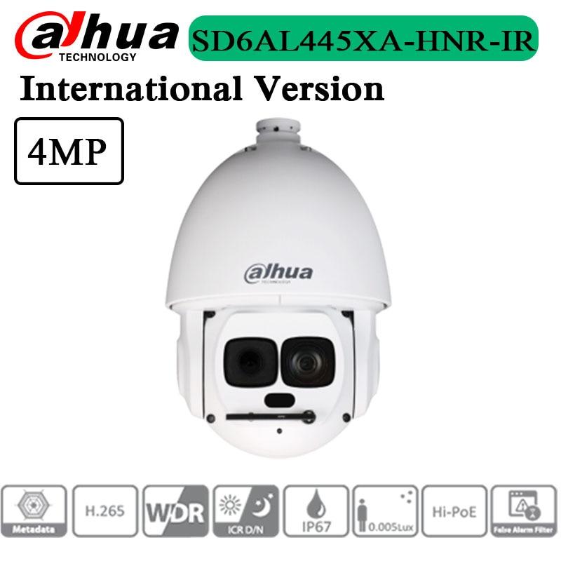 شحن مجاني الأصلي الإنجليزية النسخة 4MP 45x النجوم IR WizMind شبكة PTZ كاميرا SD6AL445XA-HNR-IR