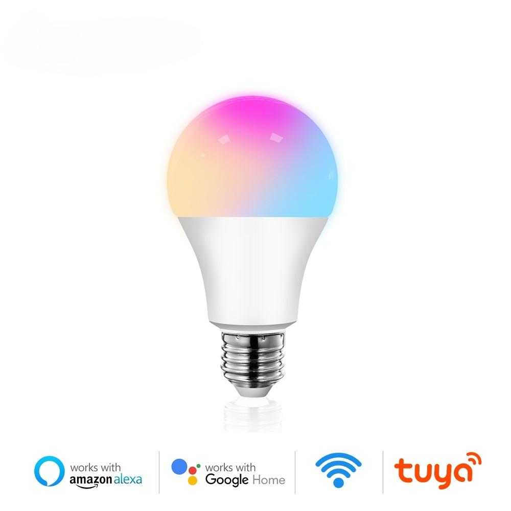 Hot Selling WiFi Smart Light Bulb Tuya 12W 15W E27 RGB LED Lamp Dimmable with Smart Life APP Voice Control for Google Home Alexa wifi smart led light bulb dimmable lamp 13w rgb c w smart life tuya app remote control work with alexa echo google home e27