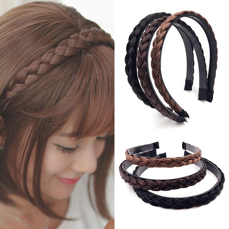 1 pc novo tranças headwear meninas moda criativo bandana peruca de cabelo acessórios para o cabelo hairpiece coreano feminino venda quente