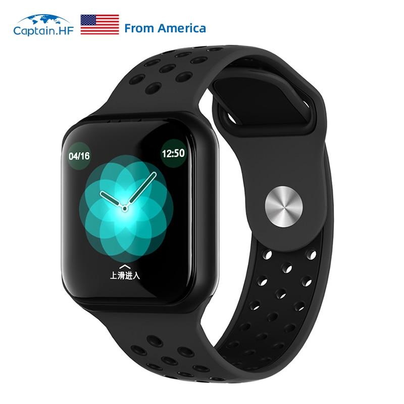 Captain HF tela de toque completa relógio inteligente pulseira multi-modo esportes freqüência cardíaca pressão arterial monitoramento do sono ios/android