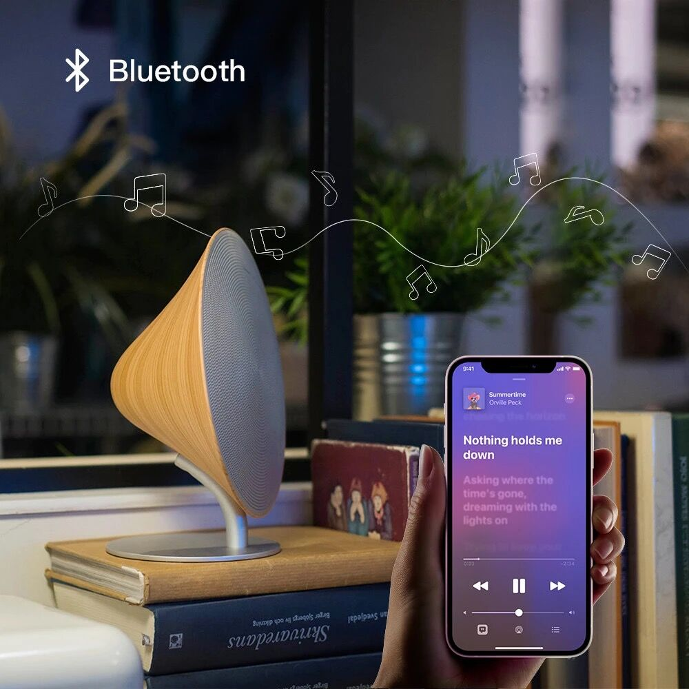 Retro Wood Wireless Bluetooth Speaker Support NFC Touch Surface Subwoofer Home Audio Bluetooth 4.2 Audio Desktop Stereo Speaker enlarge
