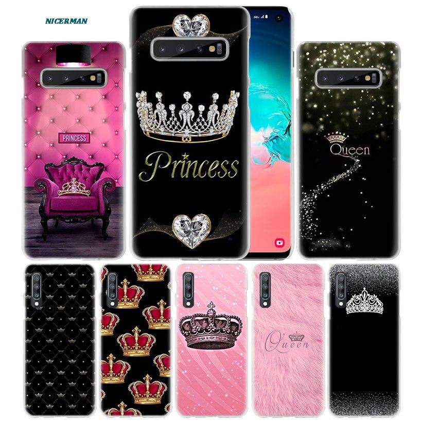 Mamá de la princesa de la Reina de la caso para Samsung Galaxy Nota 10 5G 9 8 S10 S9 S8 más A50 A40 A70 a20 e Note10 + funda para teléfono PC A10 s