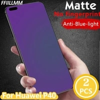 2pcslot anti blue light screen protector for huawei p40 tempered glass for huawei p40 matte protective film for huawei p40 film