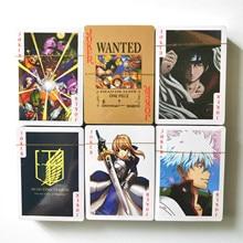 27 Styles une pièce Dragon Ball Z NARUTO Anime Poker jouets loisirs loisirs de Collection jeu cartes de Collection