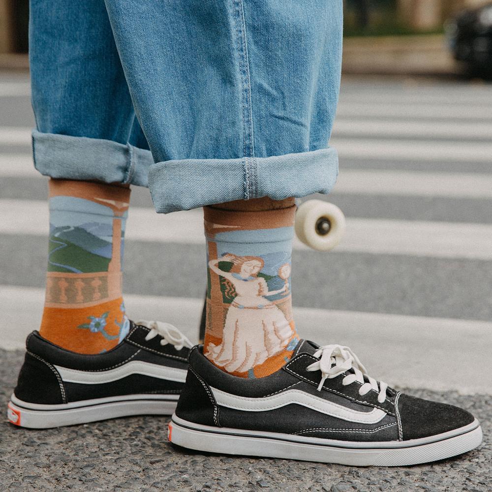 Women Long Sock Cartoon Print Creative Fashion Personalized Novelty Men Women Socks Winter Warm Comfortable Cotton Socks