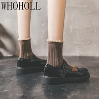 japanese high school student shoes girly girl lolita shoes cospaly shoes jk uniform loafers casual shoes harajuku vintage shoes