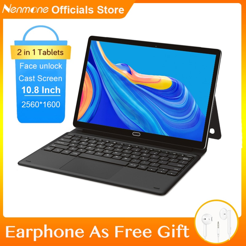 10.8 Inch 2 In 1 Tablet With Keyboard 2560*1600 HD Android Tablet 4G LTE For Office 13MP GPS TABLET 10 Cores MT6797 Face Unlock