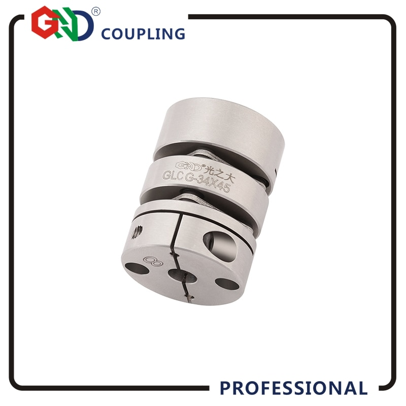 Disco de acoplamiento GND, disco de acoplamiento de doble diafragma, Abrazadera de liberación rápida torsionalmente flexible elástico para acoplador de eje de codificador CNC