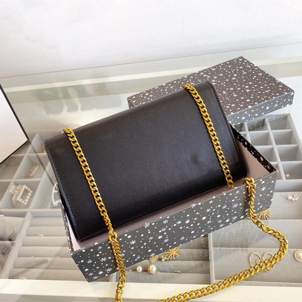 أحدث حقيبة سلسلة تصميم ، حقيبة كتف ، كاملة من الشعور الرجعية الراقية ، يمكن أن تكون عبر حملها ، حقيبة الإناث المألوف 2042