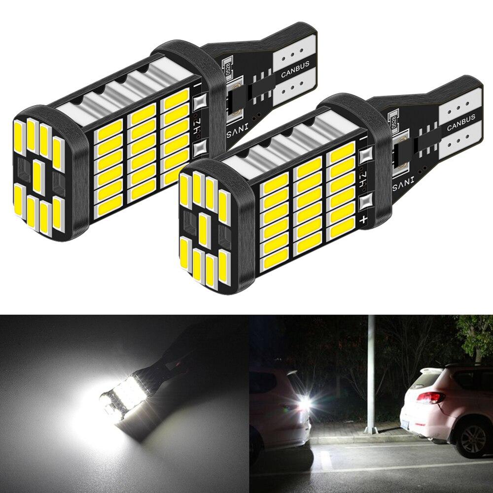 2 bombillas LED Canbus T15, luz de marcha atrás de respaldo de coche para Fiat punto stilo 500 ducato bravo panda